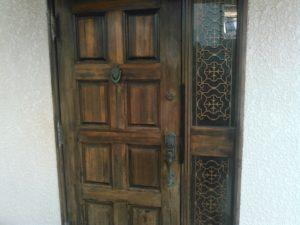 木製玄関ドア 作業前